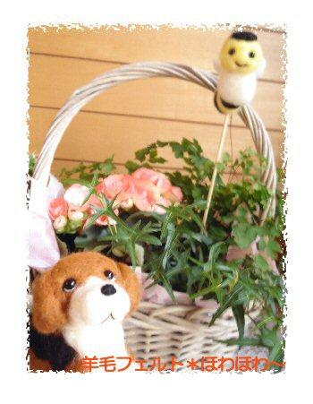 お花とビーグルちゃん2