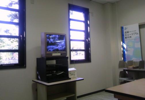 視聴覚室では、琵琶湖疏水の歴史やなりたちを学べるビデオも