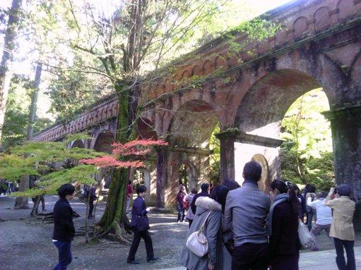 南禅寺にある水路閣 セゴビアの水道橋を彷彿とさせますね